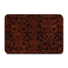 Damask2 Black Marble & Reddish Brown Leather (r) Plate Mats by trendistuff