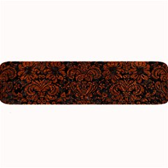 Damask2 Black Marble & Reddish Brown Leather (r) Large Bar Mats by trendistuff