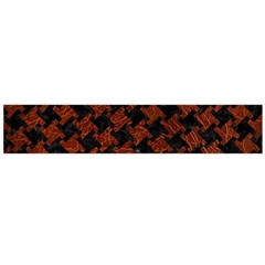 Houndstooth2 Black Marble & Reddish Brown Leather Flano Scarf (large) by trendistuff