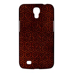 Hexagon1 Black Marble & Reddish Brown Leather Samsung Galaxy Mega 6 3  I9200 Hardshell Case by trendistuff