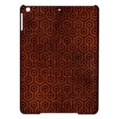 Hexagon1 Black Marble & Reddish Brown Leather Ipad Air Hardshell Cases by trendistuff