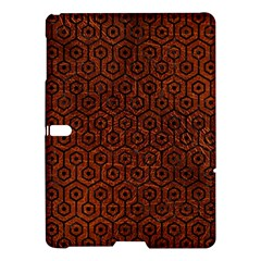 Hexagon1 Black Marble & Reddish Brown Leather Samsung Galaxy Tab S (10 5 ) Hardshell Case  by trendistuff