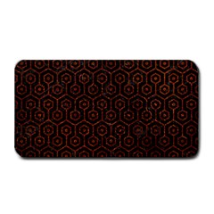 Hexagon1 Black Marble & Reddish Brown Leather (r) Medium Bar Mats by trendistuff