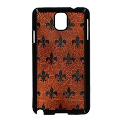 Royal1 Black Marble & Reddish Brown Leather (r) Samsung Galaxy Note 3 Neo Hardshell Case (black) by trendistuff