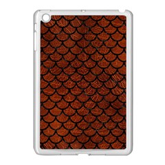Scales1 Black Marble & Reddish Brown Leather Apple Ipad Mini Case (white) by trendistuff