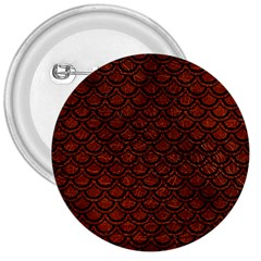 Scales2 Black Marble & Reddish Brown Leather 3  Buttons by trendistuff
