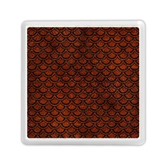 Scales2 Black Marble & Reddish Brown Leather Memory Card Reader (square)  by trendistuff