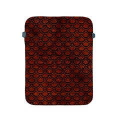 Scales2 Black Marble & Reddish Brown Leather Apple Ipad 2/3/4 Protective Soft Cases by trendistuff
