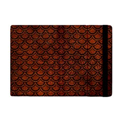 Scales2 Black Marble & Reddish Brown Leather Ipad Mini 2 Flip Cases by trendistuff