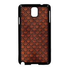 Scales2 Black Marble & Reddish Brown Leather Samsung Galaxy Note 3 Neo Hardshell Case (black) by trendistuff