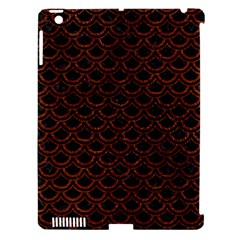 Scales2 Black Marble & Reddish Brown Leather (r) Apple Ipad 3/4 Hardshell Case (compatible With Smart Cover) by trendistuff