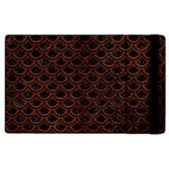 Scales2 Black Marble & Reddish Brown Leather (r) Apple Ipad 3/4 Flip Case by trendistuff