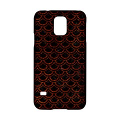 Scales2 Black Marble & Reddish Brown Leather (r) Samsung Galaxy S5 Hardshell Case  by trendistuff