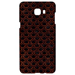 Scales2 Black Marble & Reddish Brown Leather (r) Samsung C9 Pro Hardshell Case  by trendistuff