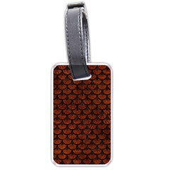 Scales3 Black Marble & Reddish Brown Leather Luggage Tags (two Sides) by trendistuff