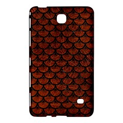Scales3 Black Marble & Reddish Brown Leather Samsung Galaxy Tab 4 (7 ) Hardshell Case  by trendistuff