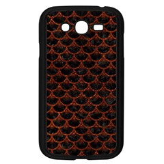 Scales3 Black Marble & Reddish Brown Leather (r) Samsung Galaxy Grand Duos I9082 Case (black) by trendistuff