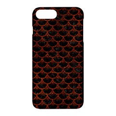 Scales3 Black Marble & Reddish Brown Leather (r) Apple Iphone 7 Plus Hardshell Case by trendistuff