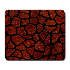 Skin1 Black Marble & Reddish Brown Leather (r) Large Mousepads by trendistuff