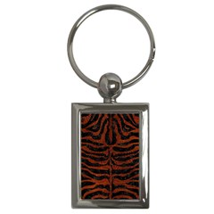Skin2 Black Marble & Reddish Brown Leather (r) Key Chains (rectangle)  by trendistuff