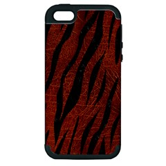 Skin3 Black Marble & Reddish Brown Leather Apple Iphone 5 Hardshell Case (pc+silicone) by trendistuff