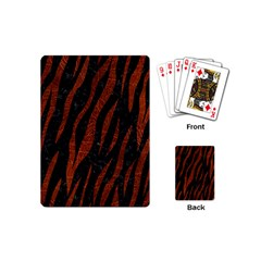 Skin3 Black Marble & Reddish Brown Leather (r) Playing Cards (mini)  by trendistuff