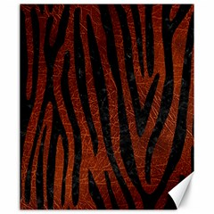 Skin4 Black Marble & Reddish Brown Leather (r) Canvas 20  X 24   by trendistuff
