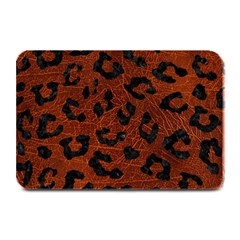 Skin5 Black Marble & Reddish Brown Leather (r) Plate Mats by trendistuff