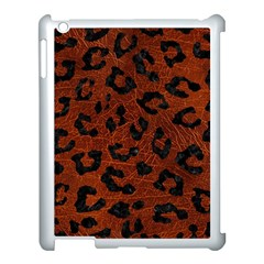 Skin5 Black Marble & Reddish Brown Leather (r) Apple Ipad 3/4 Case (white)
