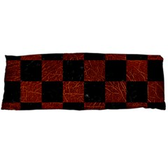 Square1 Black Marble & Reddish Brown Leather Body Pillow Case Dakimakura (two Sides) by trendistuff