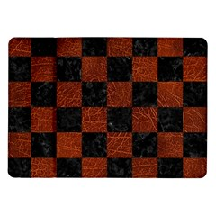 Square1 Black Marble & Reddish Brown Leather Samsung Galaxy Tab 10 1  P7500 Flip Case by trendistuff