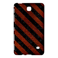 Stripes3 Black Marble & Reddish Brown Leather Samsung Galaxy Tab 4 (7 ) Hardshell Case  by trendistuff