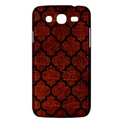 Tile1 Black Marble & Reddish Brown Leather Samsung Galaxy Mega 5 8 I9152 Hardshell Case  by trendistuff