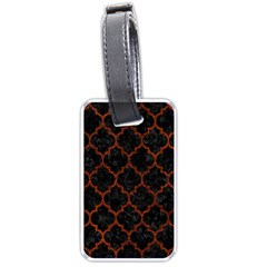 Tile1 Black Marble & Reddish Brown Leather (r) Luggage Tags (one Side)  by trendistuff