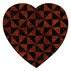 Triangle1 Black Marble & Reddish Brown Leather Jigsaw Puzzle (heart) by trendistuff