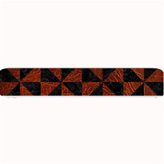 Triangle1 Black Marble & Reddish Brown Leather Small Bar Mats by trendistuff