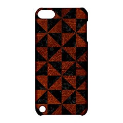 Triangle1 Black Marble & Reddish Brown Leather Apple Ipod Touch 5 Hardshell Case With Stand by trendistuff