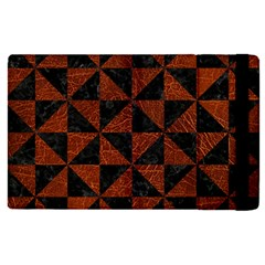 Triangle1 Black Marble & Reddish Brown Leather Apple Ipad Pro 12 9   Flip Case by trendistuff