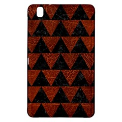Triangle2 Black Marble & Reddish Brown Leather Samsung Galaxy Tab Pro 8 4 Hardshell Case by trendistuff