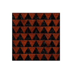 Triangle2 Black Marble & Reddish Brown Leather Satin Bandana Scarf by trendistuff