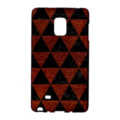 Triangle3 Black Marble & Reddish Brown Leather Galaxy Note Edge by trendistuff
