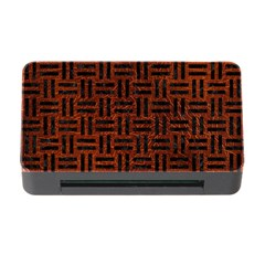 Woven1 Black Marble & Reddish Brown Leather Memory Card Reader With Cf by trendistuff