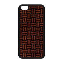 Woven1 Black Marble & Reddish Brown Leather (r) Apple Iphone 5c Seamless Case (black) by trendistuff