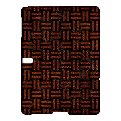 Woven1 Black Marble & Reddish Brown Leather (r) Samsung Galaxy Tab S (10 5 ) Hardshell Case  by trendistuff