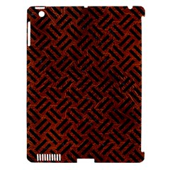 Woven2 Black Marble & Reddish Brown Leather Apple Ipad 3/4 Hardshell Case (compatible With Smart Cover) by trendistuff