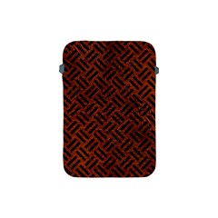 Woven2 Black Marble & Reddish Brown Leather Apple Ipad Mini Protective Soft Cases by trendistuff