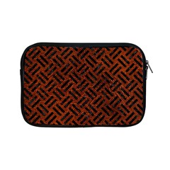 Woven2 Black Marble & Reddish Brown Leather Apple Ipad Mini Zipper Cases by trendistuff