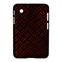 Woven2 Black Marble & Reddish Brown Leather (r) Samsung Galaxy Tab 2 (7 ) P3100 Hardshell Case  by trendistuff