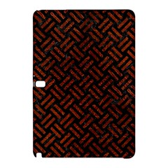 Woven2 Black Marble & Reddish Brown Leather (r) Samsung Galaxy Tab Pro 10 1 Hardshell Case by trendistuff