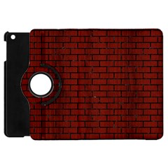 Brick1 Black Marble & Reddish Brown Wood Apple Ipad Mini Flip 360 Case by trendistuff